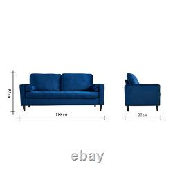 2 3 Seater L-Shaped Corner Sofa Bed w Footstool 2 Cushions Recliner Settee Couch
