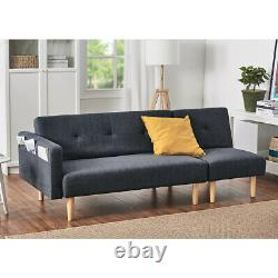2 Seater Corner Sofa Bed Armchair Recliner with Footstool Reclining Lounger Home