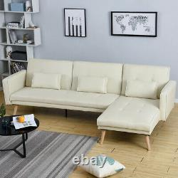 3/4 Seater L-Shape Corner Sofa Bed Lounger Recliner Armchair with Footstool Home