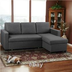 3 Seat Sofa Bed L-Shaped Corner Sofa Bed Click Clack Sofa Bed Fabric Sofa Couch