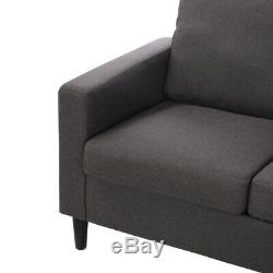 3Seater Corner Sofa Fabric Settee Left or Right Hand Living Room Sofa Bed Chaise