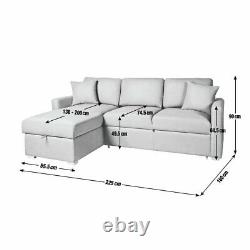 Argos Home Reagan Left Corner Faux Leather Sofa Bed with Storage Black
