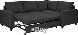 Argos Home Seattle Right Corner Fabric Sofa Bed Charcoal