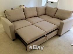 Argos Home Seattle Right Corner Fabric Sofa Bed Natural