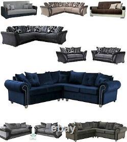 Ashwin Dino Shannon Malta Sofa or Sofa Bed Plush Velvet or Fabric Living Room