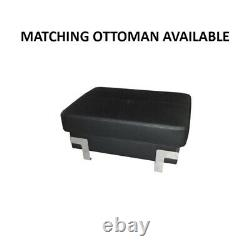 BMF'EMPORIO XL' MODERN Corner Sofa Bed Storage Faux Leather/Fabric RF