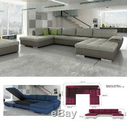BMF'TOKIO MAXI' MODERN Corner Sofa Bed Storage Faux Leather/Fabric LF