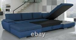 BMF'TOKIO MAXI' MODERN Corner Sofa Bed Storage Faux Leather/Fabric RF