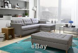 BRAND NEW CORNER SOFA BED WITH Footstool QUEST