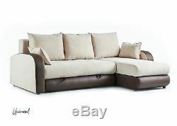 Balham Corner Living Room Modern Universal Mink Sofa bed RRP £1069.99