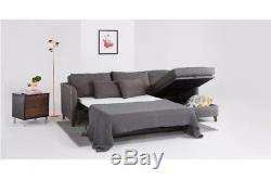 Barely Used From Made. Com! Fabric corner double sofa bed with lift up storage