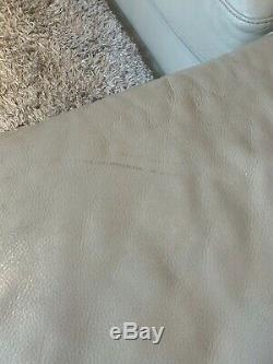 Beige Leather Corner Sofa Bed with Storage Over £3,000 New. Requires Collection