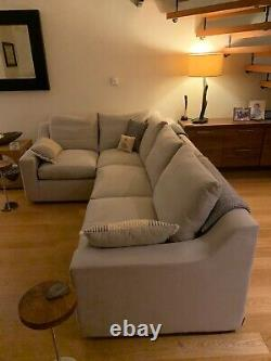Bespoke Loaf Cloud Corner Sofa Bed. 2 styles of back cushion (1 new) cost £3445