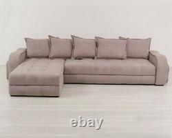 Big Corner sofa bed with storage