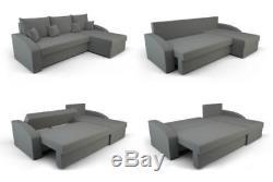 Black Corner Sofa Bed With Storage