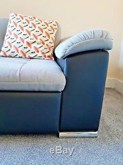 Black and Grey L Shaped Corner Sofa Bed