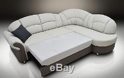 Bonded Leather Corner Sofa Bed''romero'' All Colours Available! Elegant