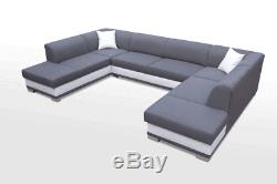 Brand New ARCO U-shaped sofa bed with sleeping function Black and White