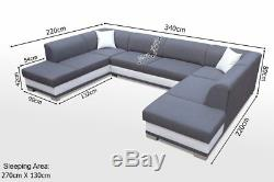 Brand New ARCO U-shaped sofa bed with sleeping function MANY COLOURS