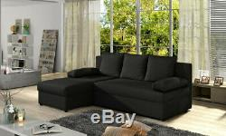 Brand New Corner Sofa Bed CHEAP FREE DELIVERY Grey Black Brown RIGHT LEFT