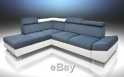 Brand New Corner Sofa Bed'felix'! Large Storage, Grey/white, 2 Men Delivery