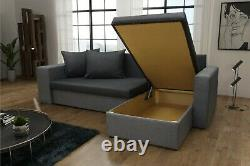 Brand New Corner Sofa Bed with 2 Footstools 2 storages