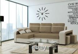 Brand New Modernistic Corner Sofa Bed Sleeping + Storage Function Otis 2