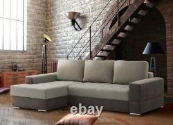 Brand New Modernistic Corner Sofa Bed Sleeping + Storage Function Prato