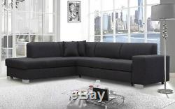 CORNER SOFA BED Dezi Modern BRAND NEW Pull Out Bed Storage Couch 285 cm 9'3'