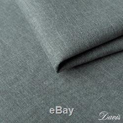 CORNER SOFA BED IN greyish BLUE RETRO 2. WITH STORAGE. SPRUNG SEAT