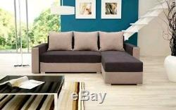 Cheap corner sofa bed storage brown fabric left right