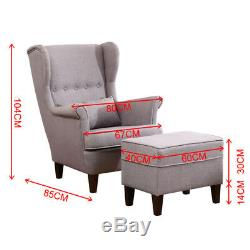 Chesterfield Corner Soft Chair Relaxer Arm Chairs Cushion Footstool Sofa Bed Set