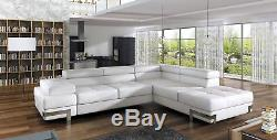 Corner Couch California Sofa with Sleep function with Bed box Couch White Black