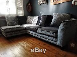Corner Fabric sofa bed used