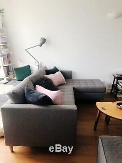 Corner Grey Sofa / Bed Cophenhagen Scandi Look