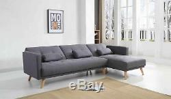 Corner L-Shape Sofa Bed