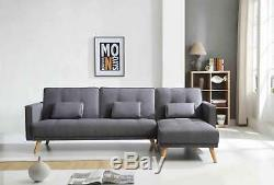 Corner L-Shape Sofa Bed with Left or Right Chaise