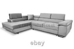 Corner Sofa ANTONY L Shape Corner Sofa Bed +Storage Delivery to Scotland