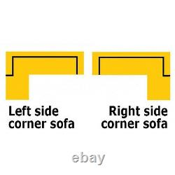 Corner Sofa Bed ANTON FAST DELIVERY Storage Container Adjustable Headrest