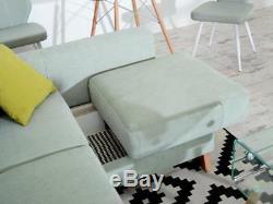 Corner Sofa Bed ARAMIS with Storage Container Sleep Function Fabric New
