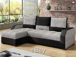 Corner Sofa Bed ARIS with Storage Container Sleep Function Universal Side New