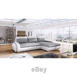 Corner Sofa Bed Alego Futuristic Modern Design Settee Living Room Seater Couch