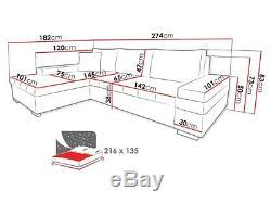 Corner Sofa Bed BANGKOK MINI Storage Container Universal Corner Side New