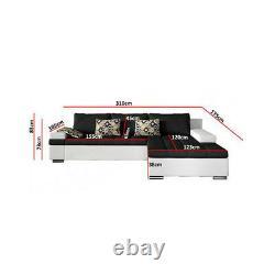 Corner Sofa Bed BANGKOK Storage Container Sleep Function Springs New
