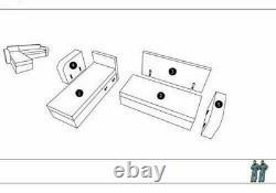 Corner Sofa Bed BRONX Grey Grey Modern L shaped compact sofa Storage
