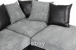 Corner Sofa Bed Byron Right Side Black Grey Brand New High Quality Free Delivery