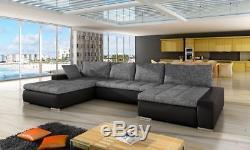 Corner Sofa Bed CARO Bedding Container Sleep Function New