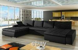 Corner Sofa Bed CARO Bedding Container Sleep Function Universal Corner Side New