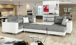 Corner Sofa Bed DORADO with Storage Container and Sleep Function New