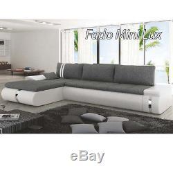Corner Sofa Bed Fado Mini Lux Bargain With Storage Container